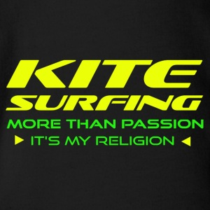 KITESURFING - MORE THAN PASSION - ITS MY RELIGION - Baby Bio-Kurzarm-Body