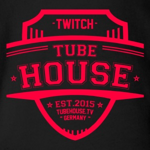 TubeHouse Team College Merch 2017 Pink - Baby bio-rompertje met korte mouwen
