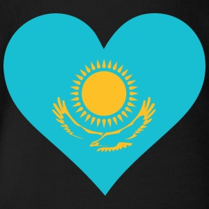 A Heart For Kazakhstan - Organic Short-sleeved Baby Bodysuit