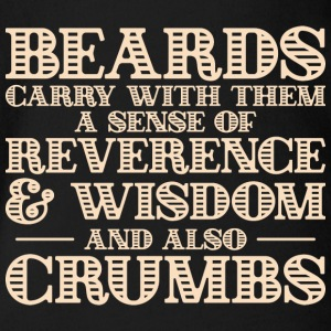 Beards carry crumbs - bart - Baby Bio-Kurzarm-Body