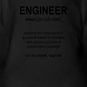 """Engineer"" Def. 1 (Black) - Organic Short-sleeved Baby Bodysuit"