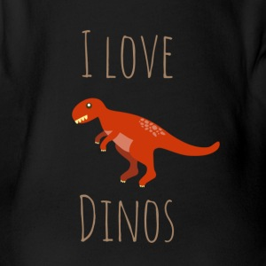 I love Dinos - Organic Short-sleeved Baby Bodysuit