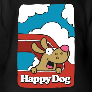 Happy_Dog - Body orgánico de maga corta para bebé