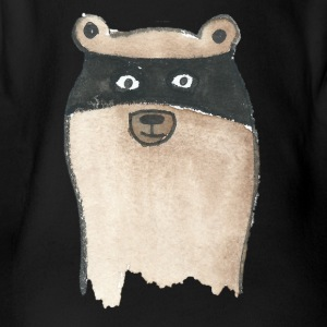 racoon - Organic Short-sleeved Baby Bodysuit