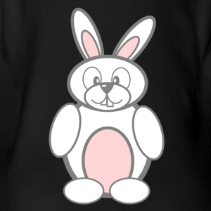 Easter bunny - Organic Short-sleeved Baby Bodysuit