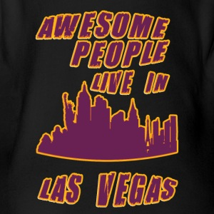 Las vegas Awesome people live in - Organic Short-sleeved Baby Bodysuit