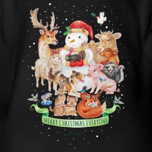 vegan-christmas-green - Organic Short-sleeved Baby Bodysuit