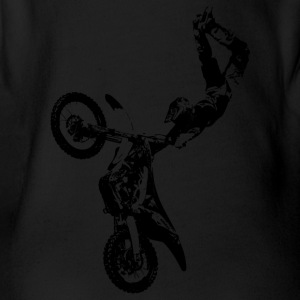 Motorcross black - Organic Short-sleeved Baby Bodysuit