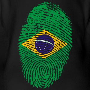 Fingerprint - Brazil - Organic Short-sleeved Baby Bodysuit
