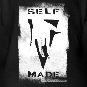 SELFMADECREW Logo Black- Coated - Organic Short-sleeved Baby Bodysuit