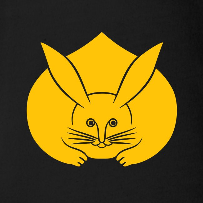 Usagi kamon japanese rabbit yellow