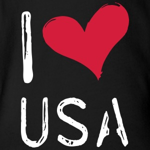 I love the USA - Organic Short-sleeved Baby Bodysuit