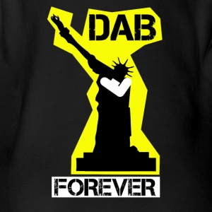 DAB FOREVER STATUE OF YELLOW Liberty- - Organic Short-sleeved Baby Bodysuit