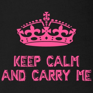 keep calm and carry me - Organic Short-sleeved Baby Bodysuit