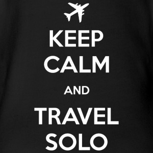 Keep Calm and Travel Solo - Organic Short-sleeved Baby Bodysuit