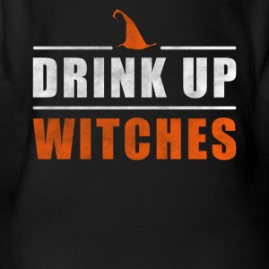 Halloween Drink up Witches outfit - Baby bio-rompertje met korte mouwen