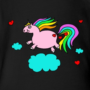 Thick unicorn - Organic Short-sleeved Baby Bodysuit