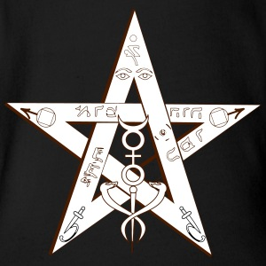 Pentagram Magic - Organic Short-sleeved Baby Bodysuit