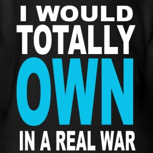 i would totally own in real war - Body orgánico de maga corta para bebé