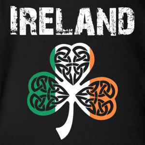 Nation-Design Ireland Shamrock - Baby Bio-Kurzarm-Body
