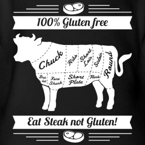 Funny design for meat fans - Organic Short-sleeved Baby Bodysuit