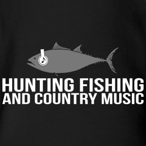 Hunting Fishing and Country Music - Baby Bio-Kurzarm-Body