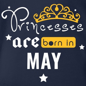Princesses are born in May - Organic Short-sleeved Baby Bodysuit
