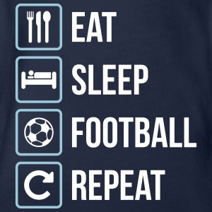 Eat Sleep Football Repeat - Ekologisk kortärmad babybody