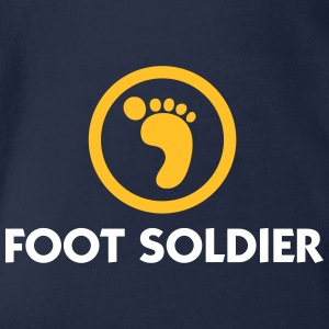 I Am A Foot Soldier - Organic Short-sleeved Baby Bodysuit