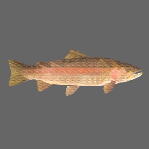 low-polygon-trout art.png - Vauvan lyhythihainen luomu-body