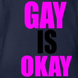 Gay is okay - Baby Bio-Kurzarm-Body