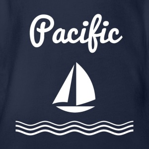 Pacific Sailing - Organic Short-sleeved Baby Bodysuit