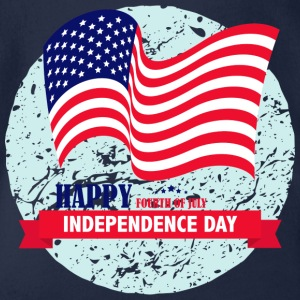 Independence Day USA 4.Juli - Baby Bio-Kurzarm-Body