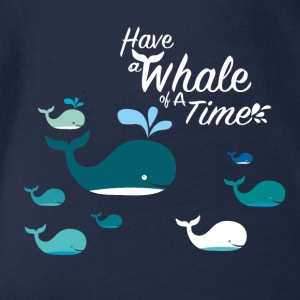 Ha en whale of a Time - Ekologisk kortärmad babybody