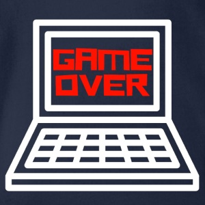 Game Over Gamer Shirt - Organic Short-sleeved Baby Bodysuit
