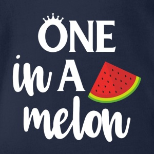 One in a melon - white - Organic Short-sleeved Baby Bodysuit