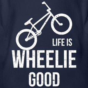 Life Is Good Wheelie - Baby bio-rompertje met korte mouwen