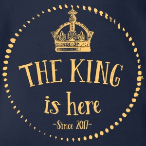 The King is here! - Organic Short-sleeved Baby Bodysuit