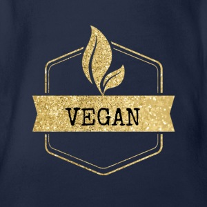 goldenes Vegan Vegetarierer Design - Baby Bio-Kurzarm-Body