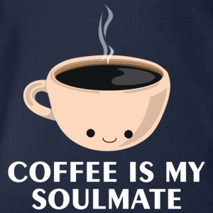 Coffee is my Soulmate - Organic Short-sleeved Baby Bodysuit