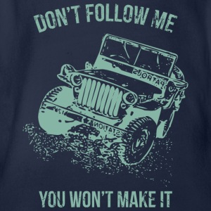 Follow Me Jeep Car - Organic Short-sleeved Baby Bodysuit