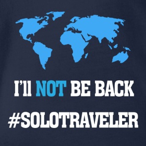 I'll Not Be Back, SoloTraveler - Organic Short-sleeved Baby Bodysuit