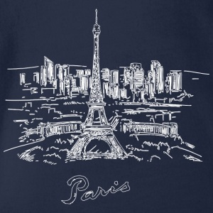 Paris City - France - Organic Short-sleeved Baby Bodysuit