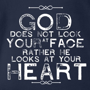 God looks at your Heart - Baby Bio-Kurzarm-Body