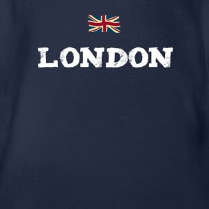 London England Union Jack brexit Great brittain lo - Organic Short-sleeved Baby Bodysuit