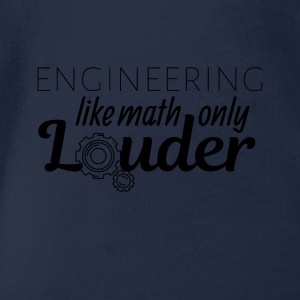 Engineering like math only Louder - Organic Short-sleeved Baby Bodysuit