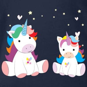 to søte Unicorns - Økologisk kortermet baby-body