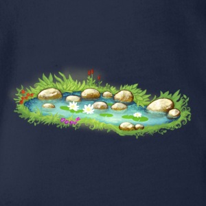 Garden Pond Pond Water Plants - Organic Short-sleeved Baby Bodysuit