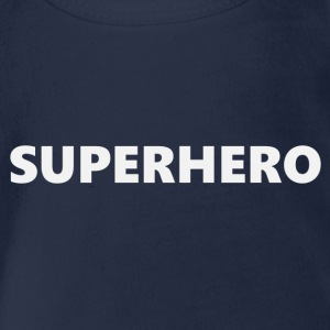 Superhero V1bkEN - Organic Short-sleeved Baby Bodysuit