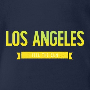 Typography LOS ANGELES FEEL THE SUN - Organic Short-sleeved Baby Bodysuit